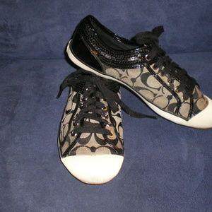 COACH Black Zorra Sneakers/Tennis Shoes sz 8B